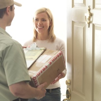 Parcels delivered and picked up - door to door